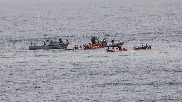 У берегов Европы ушло на дно судно с сотнями беженцев