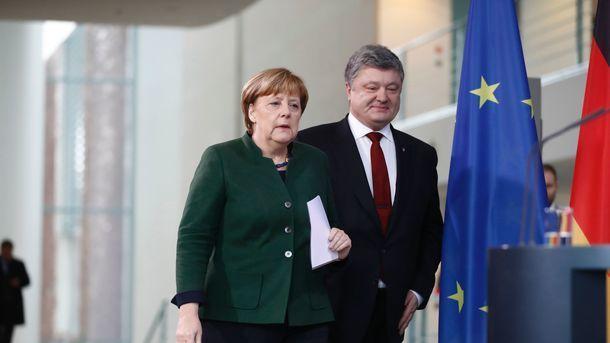 Президент Порошенко розповів про «змістову розмову» з Меркель