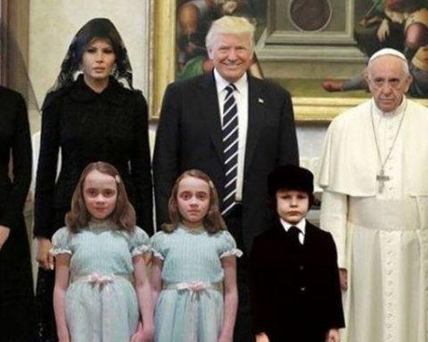 Дональд Трамп став героєм інтернет-мемів після візиту до Ватикану