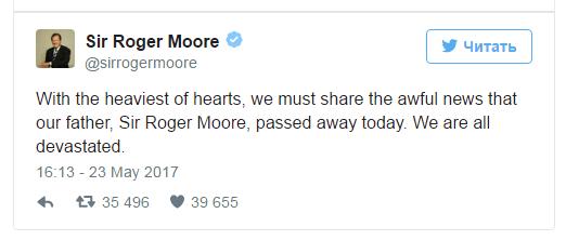 Актор, який зіграв роль Джеймса Бонда, помер від раку (ВІДЕО)