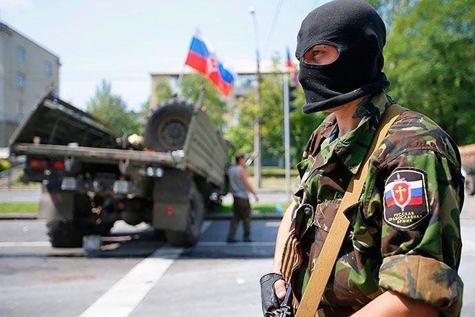 У «ЛНР» мобілізують населення свастикою і проукраїнськими гаслами