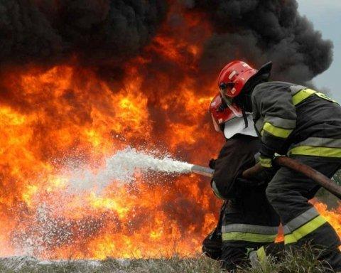 Как во Львове пассажиров из горящего самолета спасали (видео)
