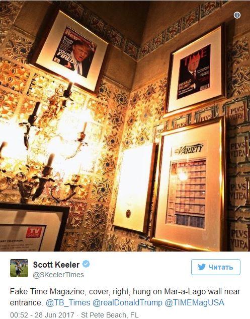 СМИ отыскали поддельную обложку Time сТрампом внескольких гольф-клубах