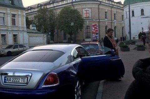Оприлюднені фото ДТП зі скандальним Rolls-Royce священика Києво-Печерської лаври