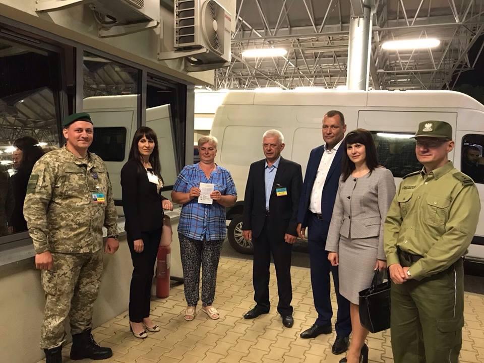 Оприлюднені фото перших українців, які перетнули кордон ЄС по безвізу