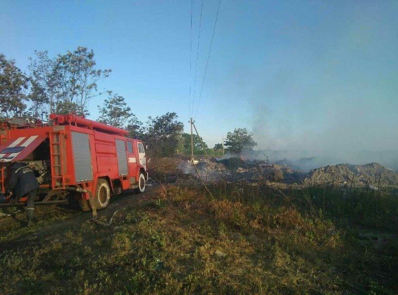 Під Києвом горить сміттєзвалище, з'явилися фото пожежі