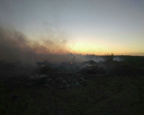 Масове загоряння сміття фіксують у Києві