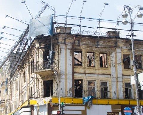 У Кличко придумали, как накажут владельца сгоревшего здания на Крещатике