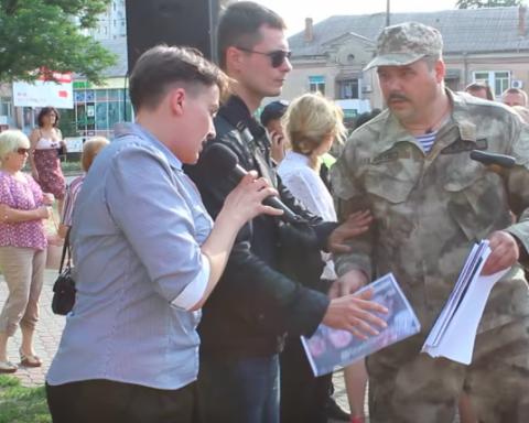 Как Савченко в Николаеве с ветеранами АТО подралась, обнародовано видео