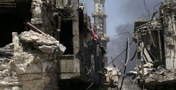 ВСирии около  правительственного города прогремел «террористический взрыв»