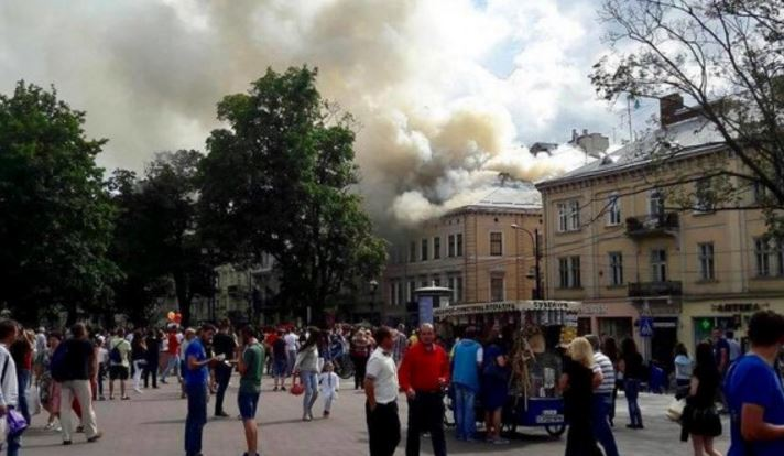 Пожар вцентре Львова: стало известно опострадавших