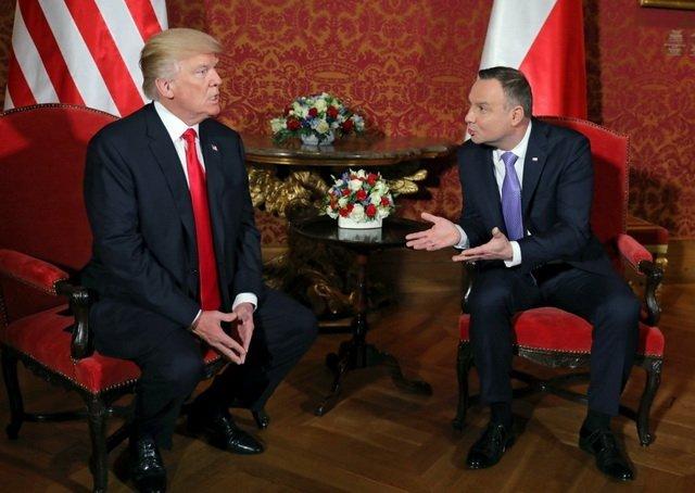Трамп и Дуда обсудили в Варшаве Украину