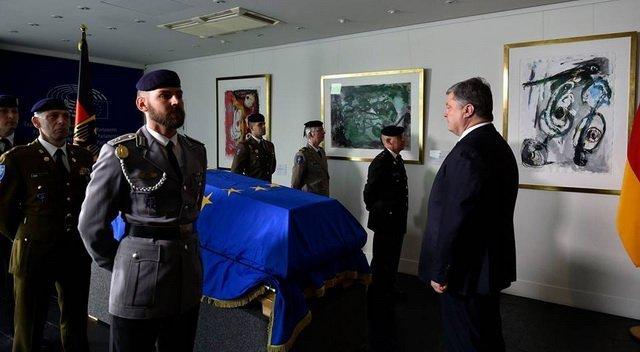 Порошенко взяв участь у церемонії прощання з Гельмутом Колем