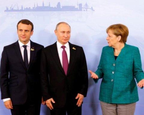 Путін обговорив з Макроном та Меркель захоплення українських кораблів: подробиці переговорів