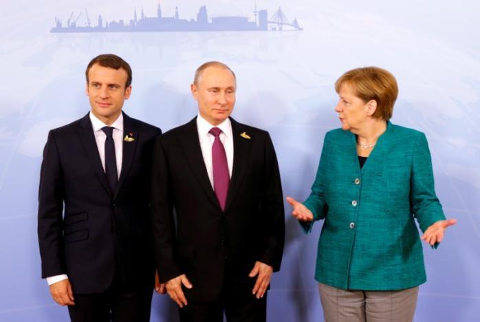 Стало известно, о чем договорились Путин, Макрон и Меркель в Гамбурге