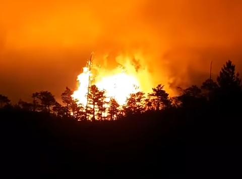 Потужний вибух на газопроводі в Росії, є відео