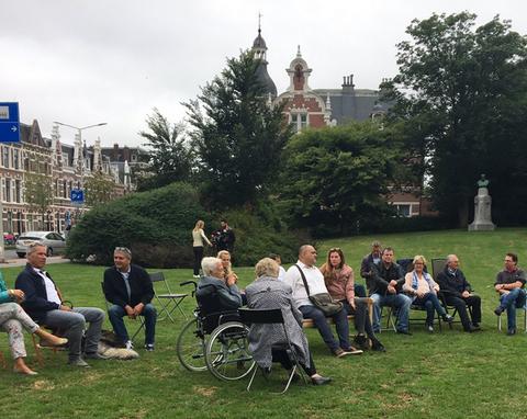 протест біля посольства Росії в Гаазі