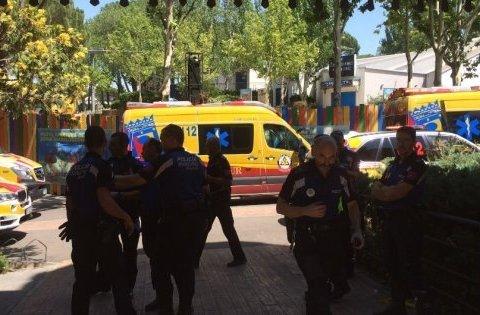 """На """"американських гірках"""" в Мадриді сталася """"ДТП"""", є постраждалі"""