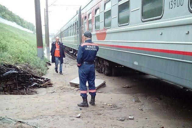 ВСША сошли срельсов несколько вагонов поезда