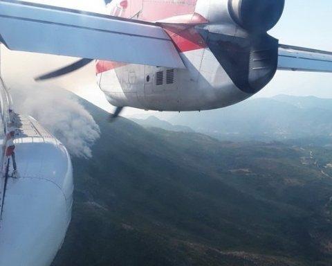 Украинская авиация с успехом тушит лесные пожары в Черногории, есть видео