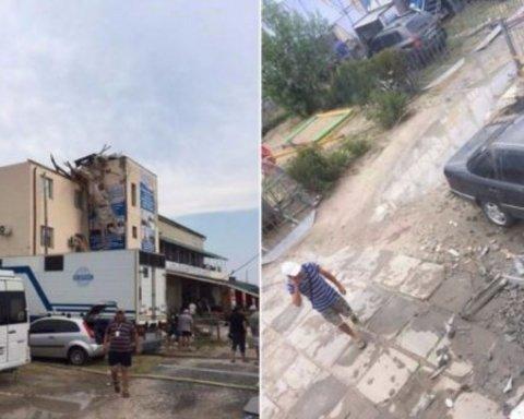 Мощный ураган прошелся по курортному городу в Херсонской области: есть фото и видео