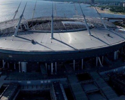 Росіяни знайшли несподіваних винуватців в протіканні даху стадіону у Петербурзі