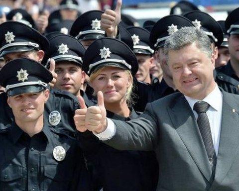 Порошенко рассказал, сколько украинцев доверяют полицейским