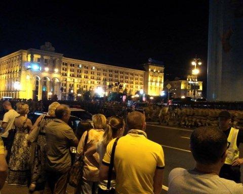 Ночная репетиция парада в Киеве с высоты птичьего полета: эксклюзивное видео