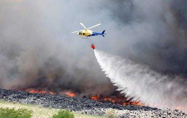 ВПортугалии разбился пожарный вертолет, есть погибший