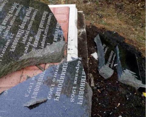 Вандали понівечили пам'ятник загиблим воїнам батальйону ім. Кульчицького