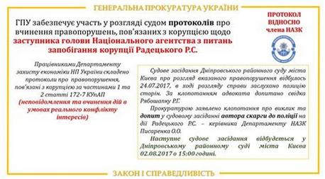 Заступника голови НАЗК Радецького оштрафували за мовчання про конфлікт інтересів