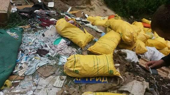 ВКиевской области отыскали свалку медицинских отходов