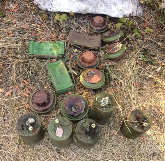 ВДонецкой области полицейские отыскали тайник сбоеприпасами ивзрывчаткой