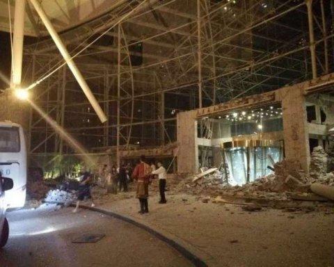 Из-за мощного землетрясения в Китае обрушился отель