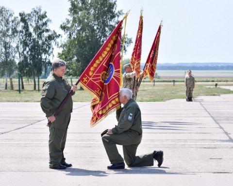 Порошенко затвердив дизайн нових бойових прапорів української армії