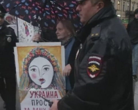 Крим – не мій!: у Петербурзі привітали Україну з Днем Незалежності, є відео