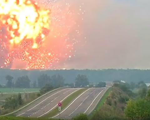 Калиновка после взрывов с высоты птичьего полета (фото)