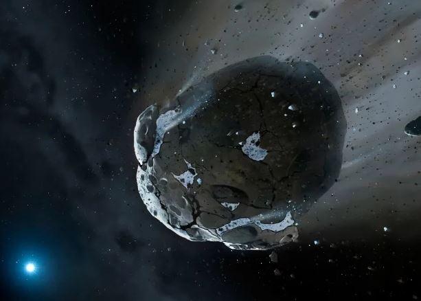 Огромный астероид летит к Земле (фото)