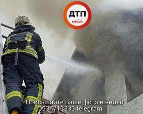 Крупный пожар в Киеве: появились подробности