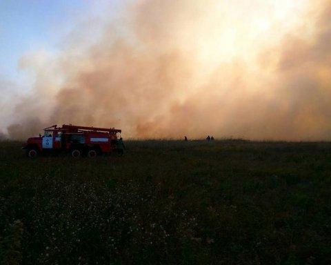 Масштабное бедствие на Полтавщине — пылает 70 га торфяников (фото)