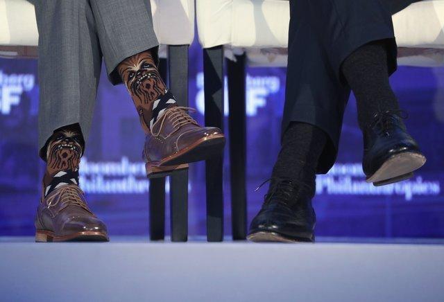 Наекономічному форумі Трюдо похизувався шкарпетками зЧубаккою