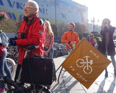 Як кияни велосипедом на роботу їхали: найяскравіші фото