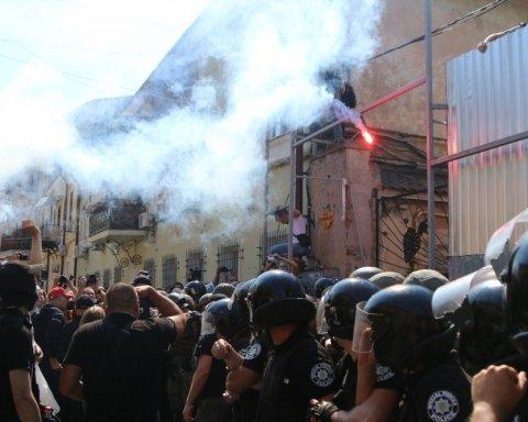 В Одесі сталися масштабні сутички між поліцією та місцевими мешканцями, фото