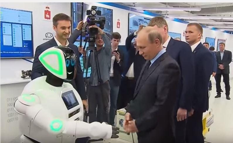 У Пермі робот перервав візит Путіна фамільярним привітанням (відео)