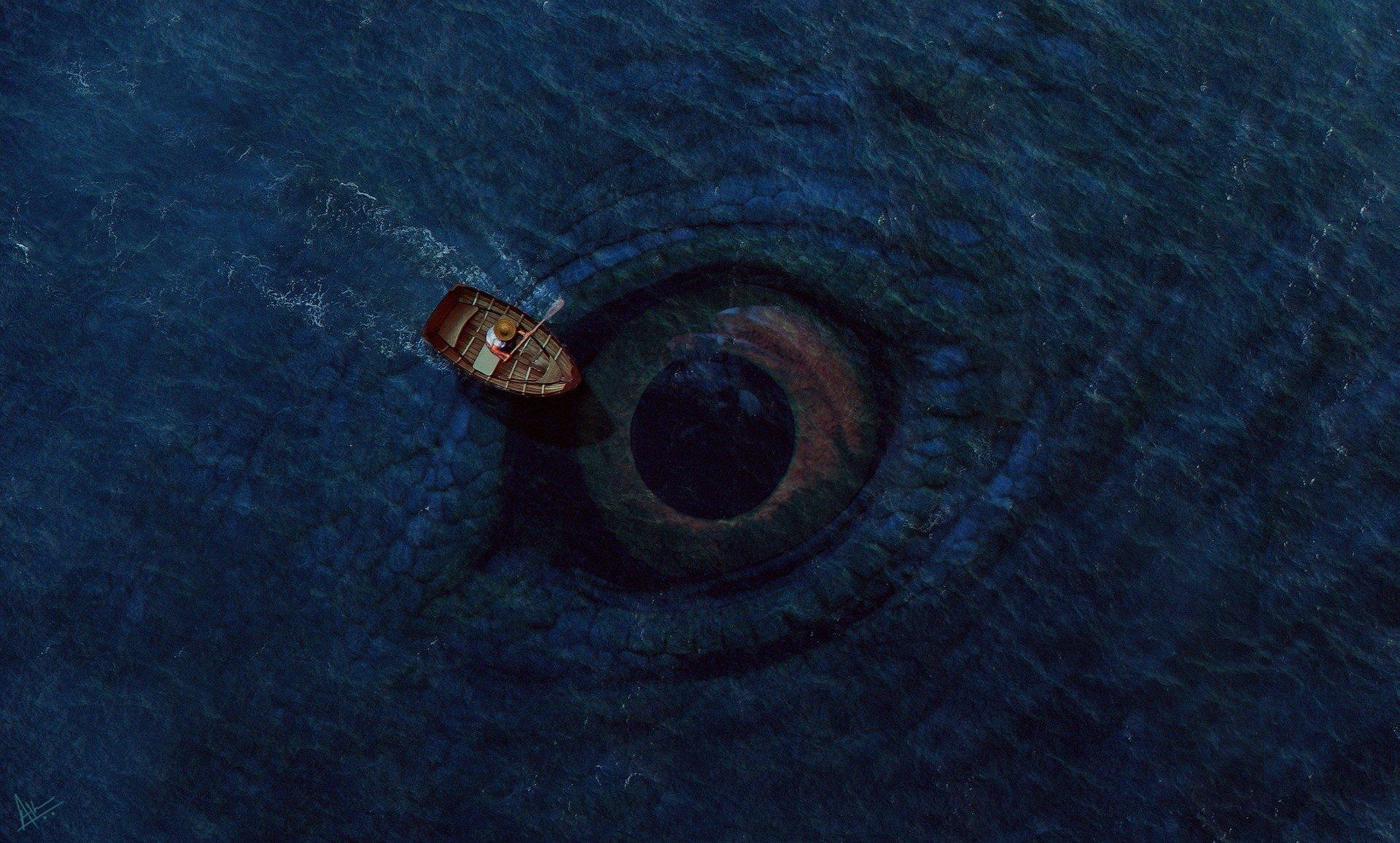 монстр, море, океан