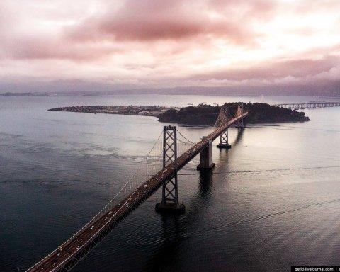 Чудові краєвиди Сан-Франциско з висоти пташиного польоту