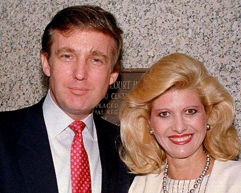 Дональд Трамп и его первая жена Ивана