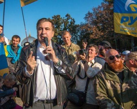 """Саакашвілі під стінами Ради """"дав послання"""" Порошенку"""