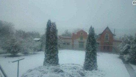 Украинцев поразил снег в сразу нескольких областях
