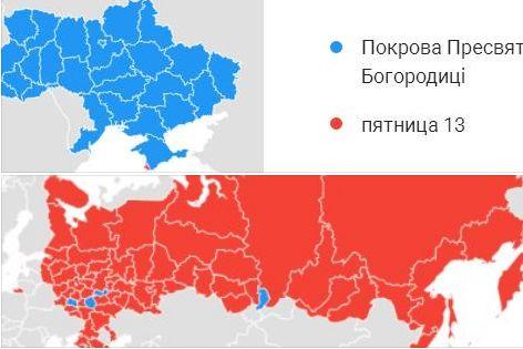Google показав різницю між українцями і росіянами (Графіка)